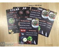 In quyển menu nhựa, in menu nhựa nhà hàng, báo giá in menu đẹp