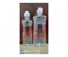 Chai nhựa trong suốt sản xuất từ chất liệu pp,hdpe,pet.