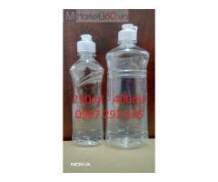 Chai nhựa trong suốt 250ml-400ml từ chất liệu nhựa pp,hdpe,pet