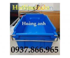Giá thùng nhựa quai sắt(Sọt quai sắt), cung cấp thùng nhựa đặc có quai xách, thung nhua quai sat