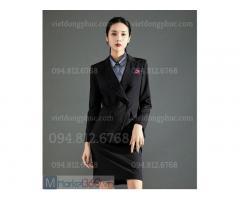 Nhận may áo vest nữ văn phòng chất lượng, form chuẩn đẹp như mẫu