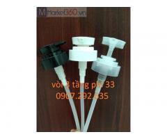 Vòi 3 tầng phi33 chất liệu nhựa pp,hdpe,pet ngành hóa mỹ phẩm