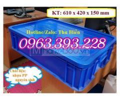 Thùng nhựa đặc có nắp tại Hà Nội, Khay nhựa cao 15 HS007