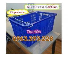 Sọt nhựa rỗng có quai sắt, sọt nhựa HS011