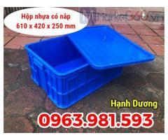 Hộp nhựa có nắp HS017, thùng nhựa cao 25cm