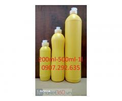 Gia công chai nhựa màu vàng 200mml-50m-1l cao cấp sẵn