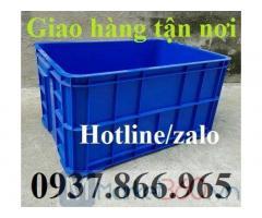 Thùng nhựa đặc cao 31cm, thùng nhựa đựng phụ tùng ô tô, thùng nhựa đặc dùng trong nhà xưởng, sóng nhựa đặc HS 019