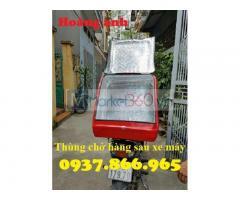 Thùng chở hàng sau xe có mút cách nhiệt,nhận sản xuất thùng chở hàng theo yêu cầu, thùng giao cơm văn phòng