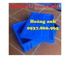 Thùng nhựa đặc đựng linh kiện trong cơ khí, khay nhựa đặc, thùng nhựa b4 tại hà nội, giá thùng nhựa đặc