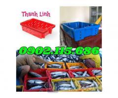 Khay nhựa đựng cá, sóng cá, sóng nhựa HS002, khay đựng cá, rổ đựng cá, sọt đựng cá,