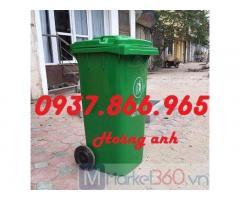 Bán xe gom rác, thùng gom rác 240l, thùng rác nhựa HDPE, thùng rác giá rẻ tại miền bắc