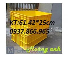 Sản xuất sọt nhựa HS 017 số lượng lớn , giá sọt nhựa đặc, thùng nhựa đặc có nắp