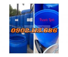 Thùng đựng hóa chất 220L, thùng phuy nhựa nắp hở ,thùng phuy nhựa 200L, thùng phuy nhựa nắp hở 220L, thùng đựng nước,thùng chứa hóa chất 220l tại Hà Nội.