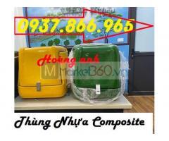 Thùng nhựa composite, thùng chở hàng theo tiêu chuẩn bộ y tế, giá thùng chở hàng trung