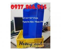 Thùng nhựa công nghiệp, thùng nhựa HS 007, thùng nhựa đặc hình chữ nhật công nghiệp