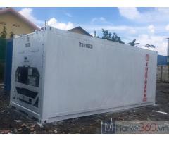 Container lạnh 20 feet lạnh sơn mới