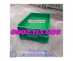 Thùng nhựa đặc, sóng nhựa bít HS025, thùng nhựa HS025, thùng nhựa công nghiệp, thùng nhựa đựng hải sản, sóng nhựa công nghiệp.