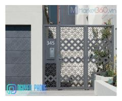 Dịch vụ thiết kế gia công lắp đặt cổng sắt CNC đẹp hiện đại chuyên nghiệp