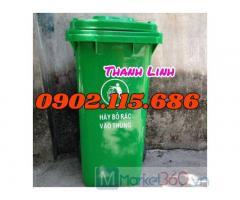 Thùng rác nhựa 240 lít, thùng rác nhựa nắp kín 240 lít, thùng rác nhựa, thùng rác công nghiệp, thùng rác công cộng,