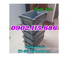 Hộp nhựa quai sắt . hộp nhựa A2, thùng nhựa quai sắt, thùng nhựa , sóng nhựa bít