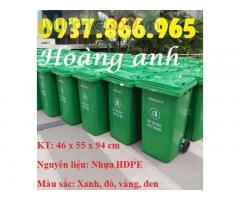 Thùng gom rác có bánh xe, thùng rác nhựa 120l, thùng rác nhựa HDPE, thùng rác công cộng