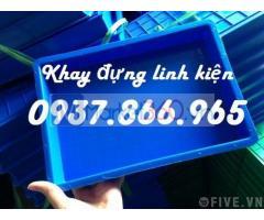 Khay nhựa cao 4cm, khay nhựa trong nhà máy sản xuất linh kiện, khay nhựa BL 006, khay nhựa
