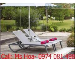 Ghế tắm nắng ngoài trời, ghế hồ bơi Grosfillex chuyên dụng