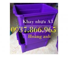 Sản xuất thùng nhựa A3, khay nhựa công nghiệp, giá thùng nhựa đặc