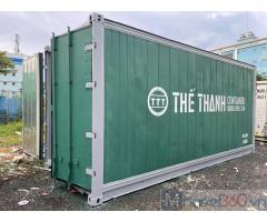 Container lạnh 20 feet sơn mới sươn màu xanh