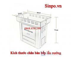 Chân bàn bếp lẩu nướng nhà hàng giá rẻ tại Hà Nội
