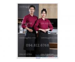 Xưởng nhận may đồng phục nhà bếp phong phú cả về chất lượng và kiểu dáng