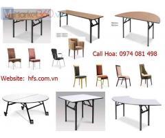Bàn ghế nhà hàng, bàn ghế banquet gấp chân giá rẻ