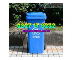 Thùng rác công nghiệp 120L nắp kín nhựa HDPE giá rẻ tận kho