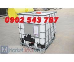 Thùng nhựa 1000 lít IBC ,thùng IBC 1000 lít