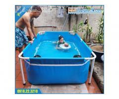 Bể bơi mini KT 2.2x1.3x0.6m