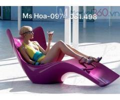 Ghế nhựa bể bơi composite gia cố sợi thủy tinh cao cấp