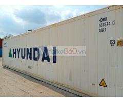 Container lạnh 40 feet chứa hàng thực phẩm hàng có sẳn tại bãi THẾ THANH CONTAINER : MS TRÂM depot: 5/4 NGUYỄN THỊ TƯ , PHƯỜNG PHÚ HỮU , T