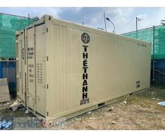Container lạnh 20 feet sơn mới hàng có sẳn Bảo hành 2 năm Với chính sách luôn ưu tiên lợi ích cho khách hàng : MS TRÂM