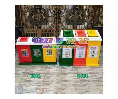 Cung cấp thùng rác phân loại rác thải nhựa composite, thùng rác 3 ngăn giá rẻ