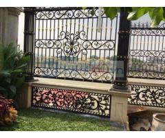 Làm hàng rào sắt mỹ nghệ bền đẹp cho biệt thự, nhà phố hàng đầu tại TPHCM