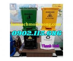 Thùng rác y tế, thùng đựng rác thải y tế, thùng đựng rác 240 lít, thùng đựng chất thải lây nhiễm.