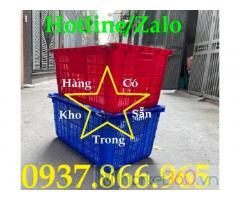 Sóng nhựa hở HS011, sọt nhựa hở,sóng quai sắt,sọt nhựa dùng trong may mặc sọt nhựa đựng hải sản chịu tải trong lớn