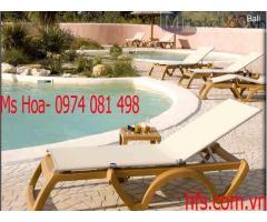Ghế nhựa tắm nắng ngoài trời cao cấp khu resort khách sạn
