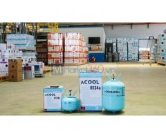 Phân phối gas lạnh R134 loại bình lớn và nhỏ