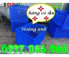 Sọt nhựa có bánh xe dùng trong xí nghiệp may, thùng nhựa rỗng dùng ship hàng