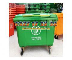 Báo giá thùng rác 660l hdpe 4 bánh giá rẻ, uy tín