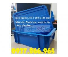 Giá sỉ thùng nhựa công nghiệp, khay nhựa dùng trong cửa hàng cơ khí, khay nhựa B7 có nắp